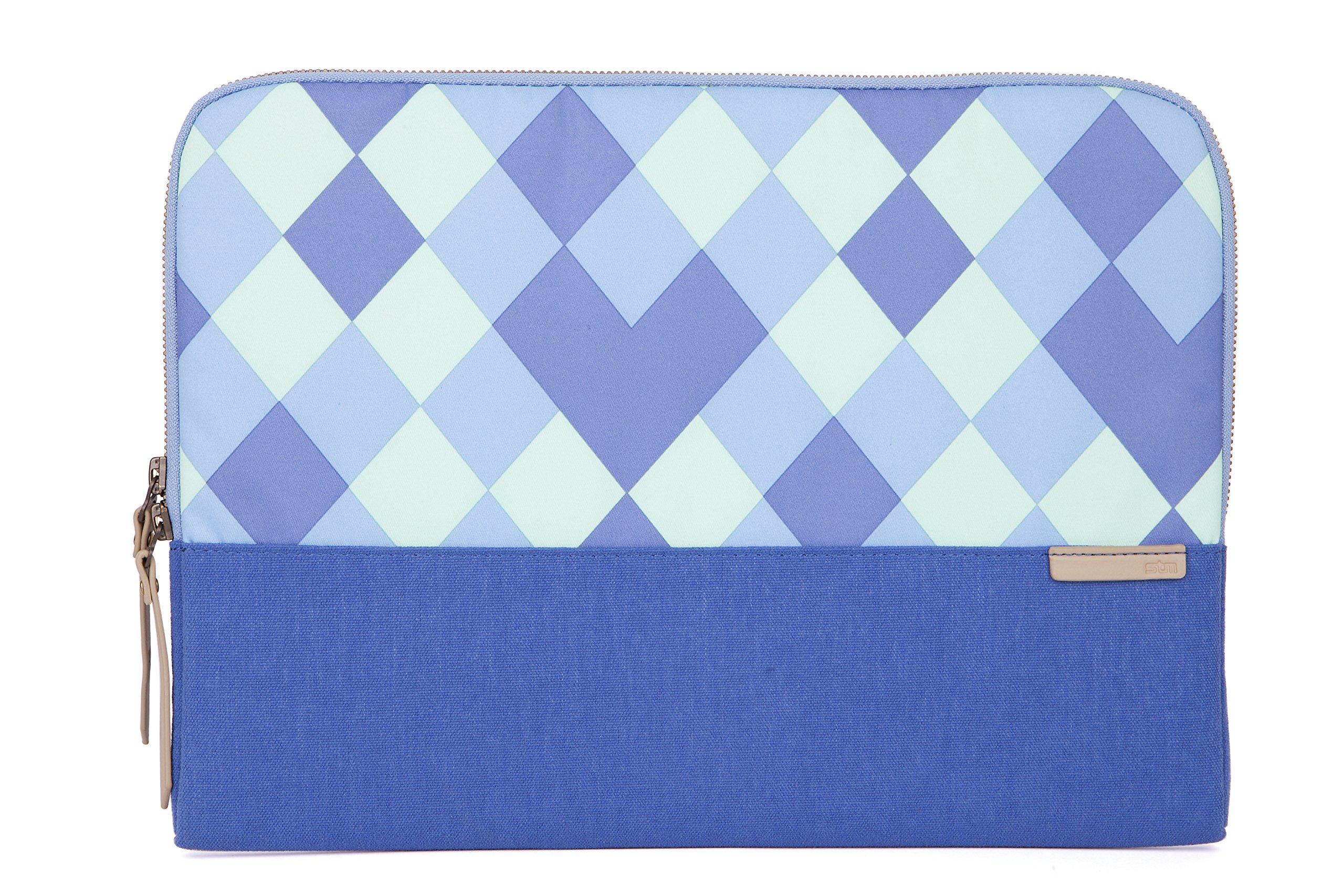 STM Grace, Women's Laptop Sleeve for 13-Inch MacBooks and Ultrabooks - Blue Diamonds (stm-114-106M-19)