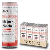 Hella Cocktail Co. | Spritz Aromatic Bitters & Soda | 12oz Cans (Case of 12) | Ready to Drink or Use as Cocktail Mixer | All Natural Ingredients, Made with Gentian Tincture