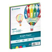 Printworks Bright Colored Paper, 24 lb, 4 Assorted Colors, FSC Certified, Perfect for School and Craft Projects, 100 Sheets, 8.5 x 11 Inch (00576)
