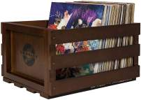 Crosley AC1004A-MA Record Storage Crate Holds up to 75 Albums, Mahogany