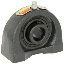 """Sealmaster TB-16 Tapped Base Pillow Block Ball Bearing, Non-Expansion Type, Normal-Duty, Regreasable, Setscrew Locking Collar, Felt Seals, Cast Iron Housing, 1"""" Bore, 1-7/16"""" Base to Center Height, 2"""" Bolt Hole Spacing Width"""