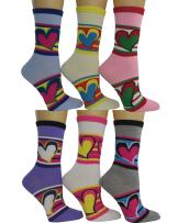 Womens Colorful Crew socks 6-pack by DEBRA WEITZNER