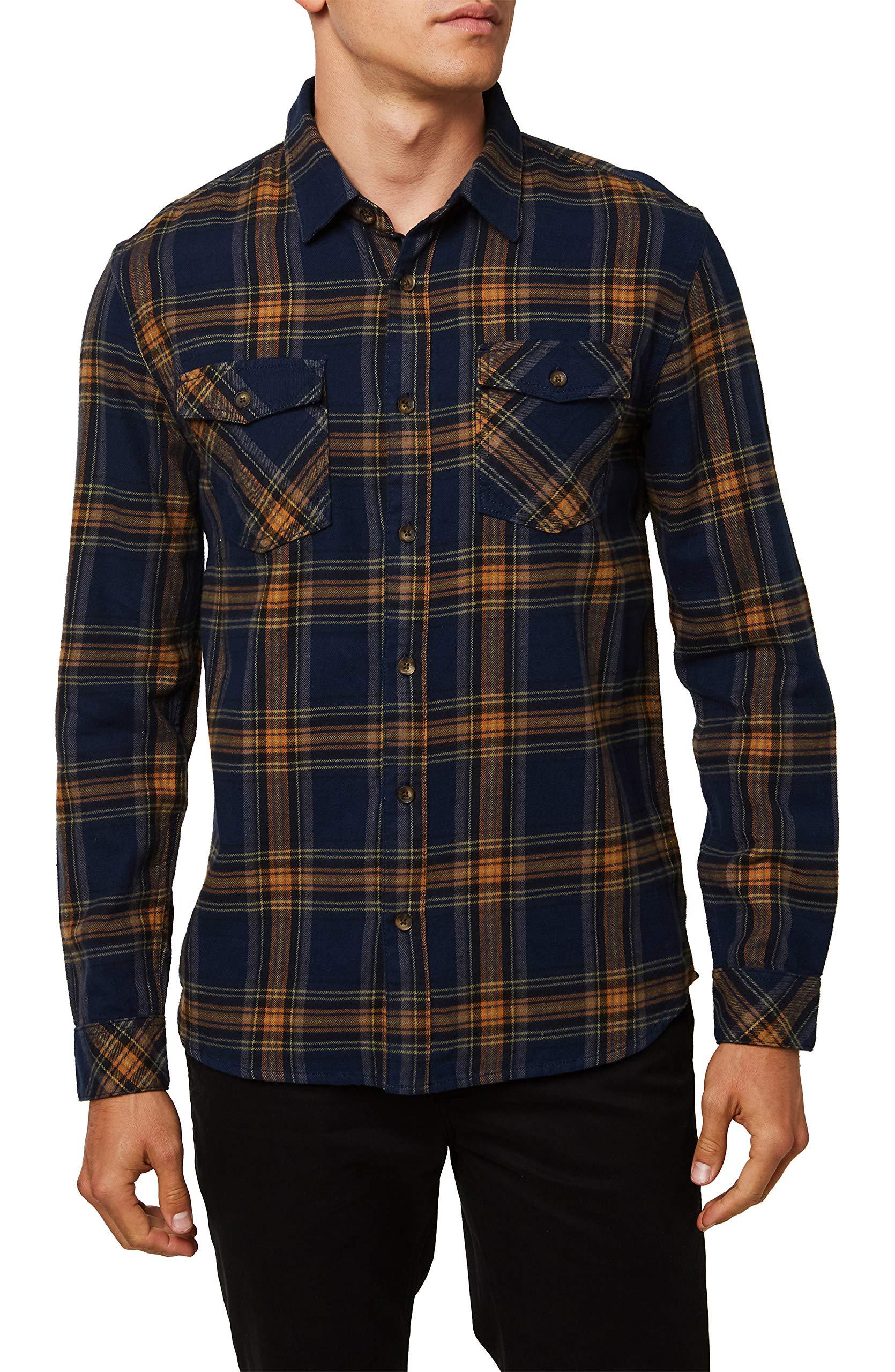 O'Neill Men's Standard Fit Long Sleeve Button Down Flannel Shirt