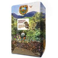 Java Planet, Organic Coffee Beans, Espresso Blend, Gourmet Dark Roast of Arabica Whole Bean Coffees, Certified Organic, Grown at High Altitude, 5lb Bag