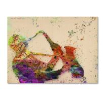 "Saxophone by Mark Ashkenazi Wall Decor, 18 by 24"" Canvas Wall Art"