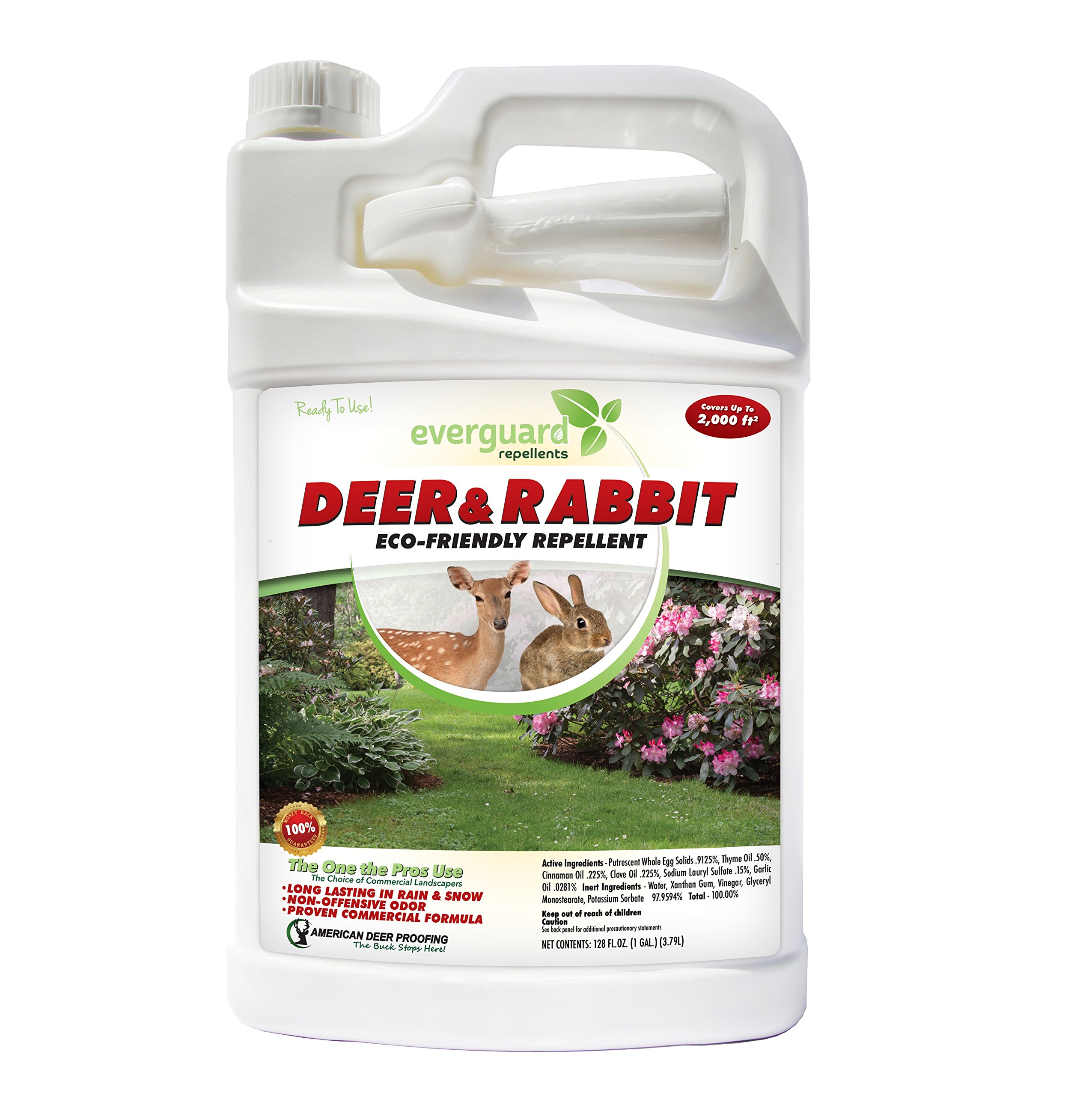 Everguard ADPR128 Ready to Spray Deer & Rabbit Repellent, 128 oz