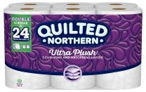 Quilted Northern Ultra Plush® Toilet Paper, 12 Double Rolls, 12 = 24 Regular Rolls, 3 Ply Bath Tissue