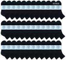 Yacht & Smith Wholesale Bulk Womens Mid Ankle Socks, Cotton Sport Athletic Socks - Size 9-11