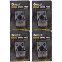 NICHE Brake Pad Set For Suzuki Intruder 800 1400 1500 750 Cavalcade 59100-38820 Front Rear Organic 4 Pack