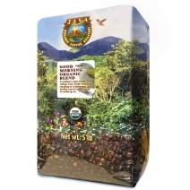 Java Planet Organic Coffee Beans Good Morning Blend - a Gourmet Medium Roast of Arabica Whole Bean Coffee USDA Certified Organic, Grown at High Altitude (5 lb)