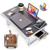 Lap Desk, Foldable Desk Bed Tray, Standing desk, Laptop Desk, TV Tray Tables For Eating, Bed Table, Bed Desk, Breakfast Tray, Laptop Stand For Bed and Couch, Portable Desk For Dinner, Reading, Writing