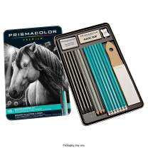 Prismacolor Premier Graphite Pencils with Erasers and Sharpeners, 18 Piece Drawing Pencil Set, Sketching Pencils