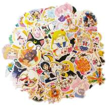 100PCS Sailor Moon Stickers for Water Bottles,Classic Japanese Cartoon Anime Waterproof Stickers for Laptop,Phone,Hydro Flask Travel Vinyl Kids Stickers (100pcs)