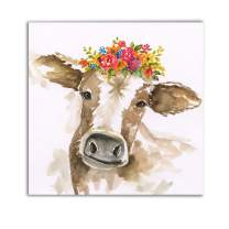 WEXFORD HOME Miss Daisy Gallery Wrapped Canvas Wall Art, 24x24