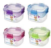 Sistema Snack To Go, 13.5 Oz /400 ML, 2 Compartment Container, Colors May Vary, 2-pack