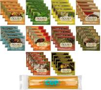 Numi 40 Count, 10 Flavor, Organic Tea Bag Sampler with By The Cup Honey Sticks