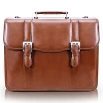 "McKlein USA Flournoy 15"" Leather Double Compartment Laptop Briefcase"