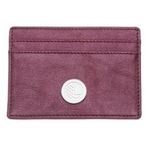 Ultra Slim Real Genuine British Leather Credit Card Holder for Men & Women