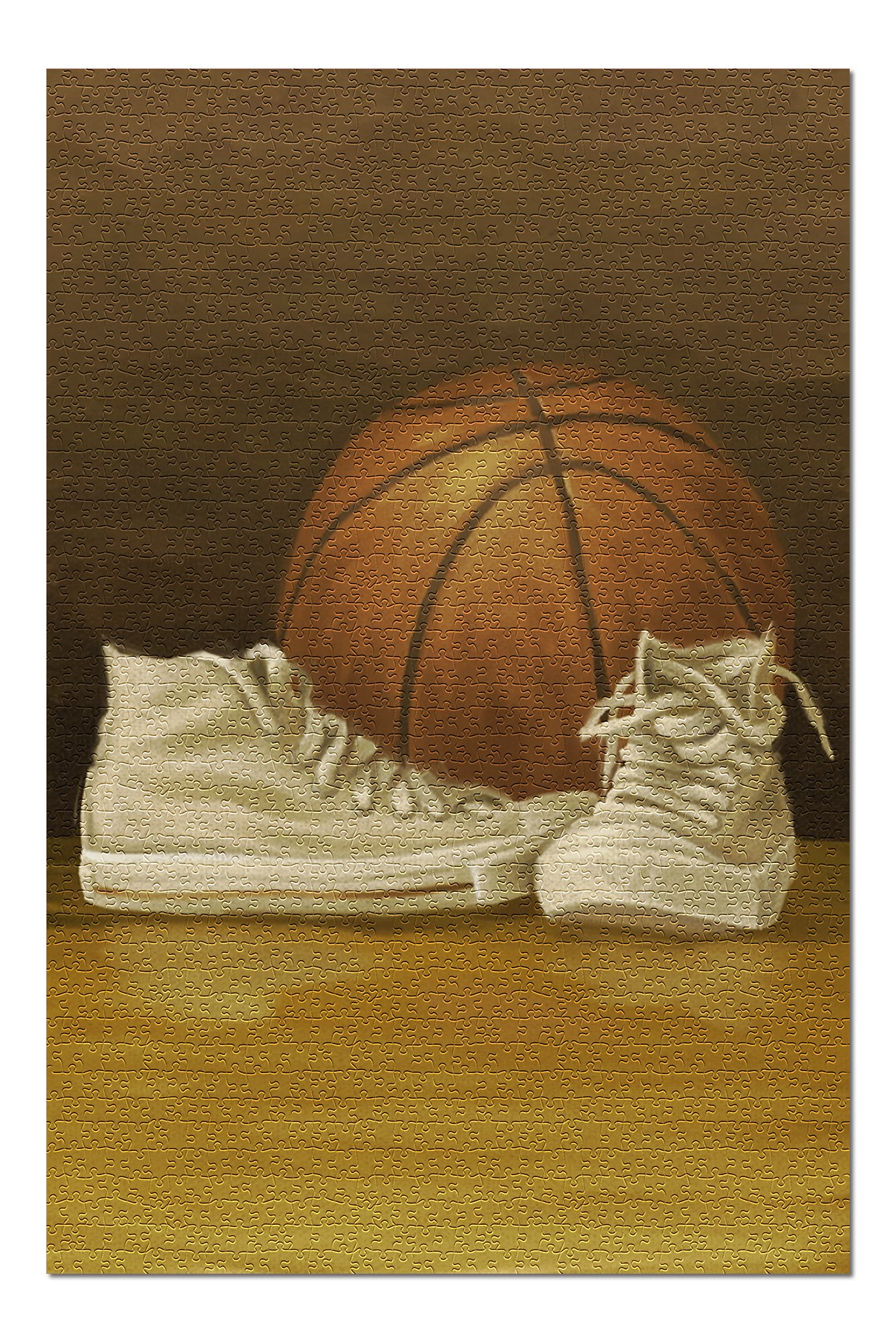 Basketball - Oil Painting (Premium 1000 Piece Jigsaw Puzzle for Adults, 19x27, Made in USA!)
