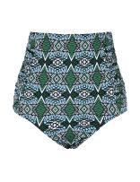 Septangle Women's Vintage High Waisted Bikini Bottom Shirred Tankini Briefs