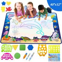 """New Extra Large 39.5""""x31.5"""" Aqua Magic Water Doodle Drawing Mat for Toddlers,Perfect Educational Toys for Age 1 2 3 4 5 6 7 8 9 10 Years Old Girls Boys"""