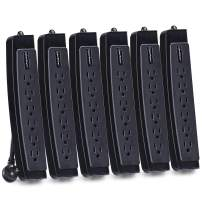 CyberPower CSP604TMP6 Professional Surge Protector, 1350J/125V, 6 Outlets, 4ft Power Cord, 6 Pack