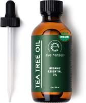 Eve Hansen Organic Tea Tree Oil (2oz) | Highest Quality Melaleuca Alternifolia | Pure Tea Tree Oil for Skin, Scalp, Nail Health, Aromatherapy | Acne Treatment, Lice Treatment and Skin Tag Remover
