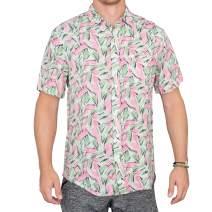 Adult Halloween Tropical Hopper Costume Hawaiian Button Down Shirt