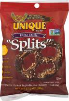 "Unique Pretzels ""Splits"" Pretzels, Homestyle Baked, 2.12 (Pack of 24), Extra Dark, 50.4 Oz"