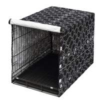 """Morezi Dog Crate Cover for Wire Crates, Heavy Nylon Waterproof, Fits Most 36"""" inch Dog Crates, Easy to Put On, Take Off, and Adjust - Cover only"""