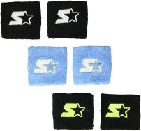 """Starter Adult Unisex 6-Pack 3"""" Performance Wristband (Three Pair), Amazon Exclusive"""