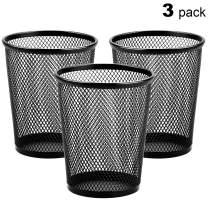 MaxGear Pen Holder Mesh Pencil Holder for Desk Office Pen Organizer Black, 3 Pack