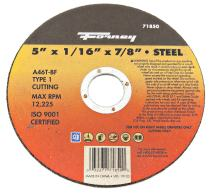 Forney 71850 Cut-Off Wheel with 7/8-Inch Arbor, Metal Type 1, A46T-BF, 5-Inch-by-1/16-Inch