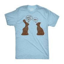 Crazy Dog T-Shirts Mens My Butt Hurts T Shirt Funny Easter Egg Chocolate Bunny Sarcastic Gift Tee
