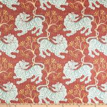 P Kaufmann Lion Dance Canvas Fabric, Rouge, Fabric By The Yard