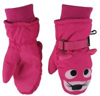 N'Ice Caps Little Kids Cute Animal Faces Waterproof Warm Winter Snow Mittens