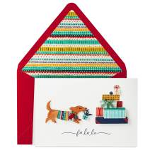 Hallmark Signature Christmas Card (Dog with Presents)