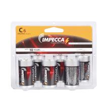 IMPECCA C Batteries 6 Pack, High Performance Alkaline Size C Batteries, Long Lasting Shelf Life, Leak Resistant C LR14 6 Count - Platinum Series