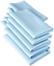 LA Linen 10-Pack Polyester Poplin Napkins, 18 by 18-Inch, Light Blue