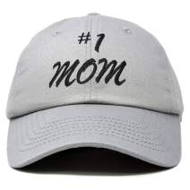 DALIX #1 Mom Hat Number One Embroidered Baseball Cap