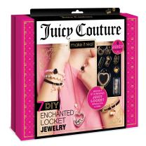 Make It Real - Juicy Couture Enchanted Locket Jewelry. DIY Locket and Charms Jewelry Making Kit for Girls. Design and Craft a Juicy Couture Heart Locket Necklace, Charm Bracelet, and Ring