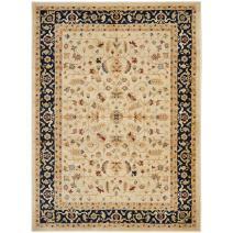"Safavieh Austin Collection AUS1610-1170 Traditional Oriental Cream and Navy Area Rug (4' x 5'7"")"