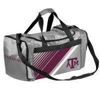 FOCO NCAA Texas A&M Border Stripe Duffle Bag
