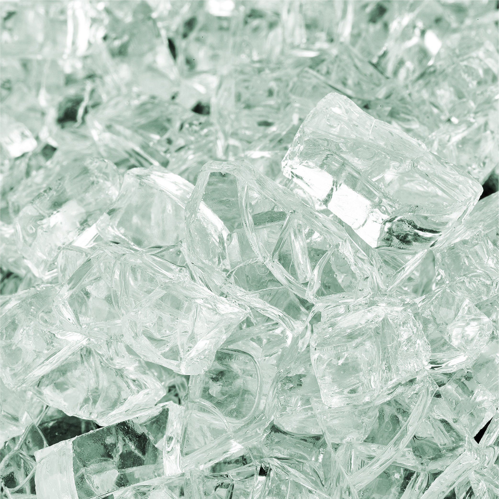 Arctic Ice - Fire Glass for Indoor and Outdoor Fire Pits or Fireplaces | 10 Pounds | 1/4 Inch
