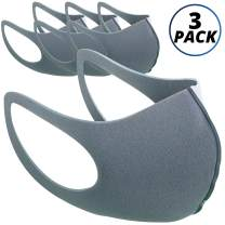 Vairino Anti Dust Face Mask | Washable Reusable Mouth Cover (Light Grey, 3 Pack)