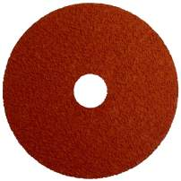 "Weiler 69852 Tiger Ceramic Alumina Resin Fiber Sanding & Grinding Disc, 4-1/2"" Diameter, 50 Grit, 7/8"" Arbor Hole (Pack of 25)"