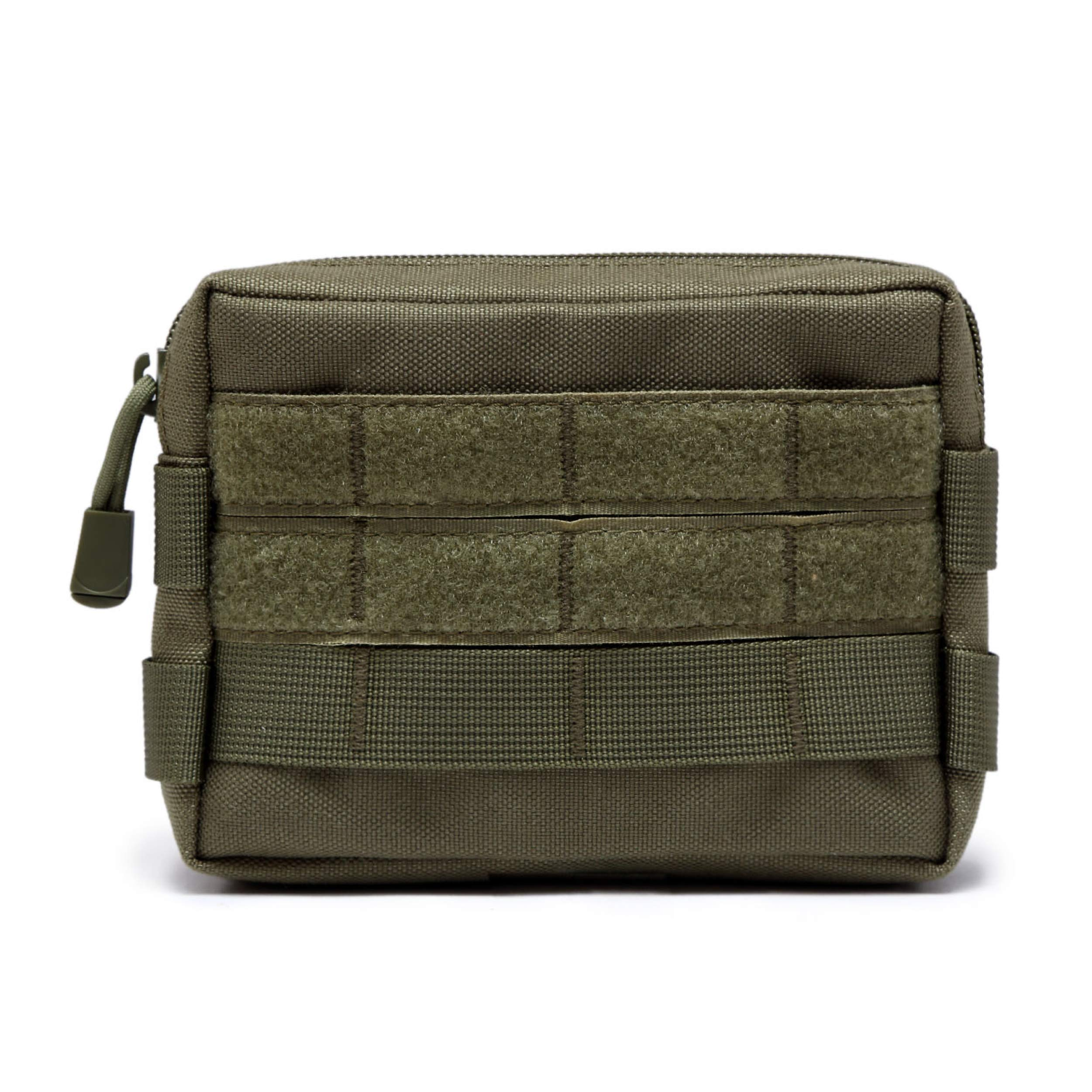 TRIWONDER Tactical MOLLE Horizontal Admin Pouch Utility EDC Tool Bag Military Carry Accessory Belt Hanging Waist Bag