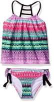 next Girls' Ladder Back Tankini Top & Tubular Bikini Bottom Swimsuit Set