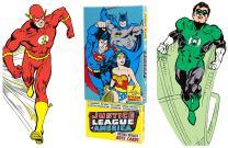 Justice League of America Greeting Card Boxed Set - Die Cut Silhouette Cards of Aquaman, Batman, The Flash, Green Lantern, Martian Manhunter, Superman, Wonder Woman