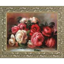 "La Pastiche Discarded Roses by Pierre Auguste Renoir Framed Oil Painting, 25.5"" x 21.5"", Multi"